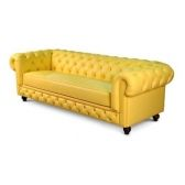 Sofá Chesterfield Amarelo 4 Lugares 2,5 CM