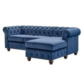 Sofá chesterfield com chaise